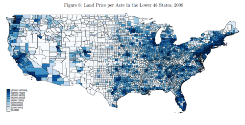 Land Value map from Richard Florida essay