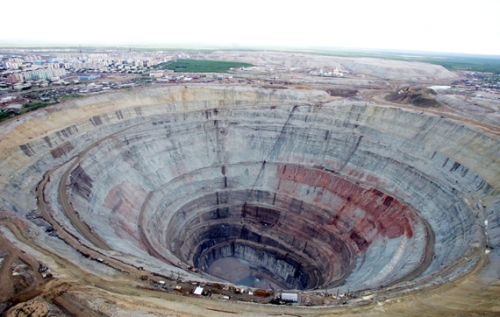 Diamond mine.