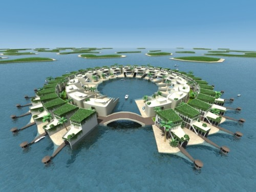 Dutch Docklands Abu Dhabi proposal for a floating development.