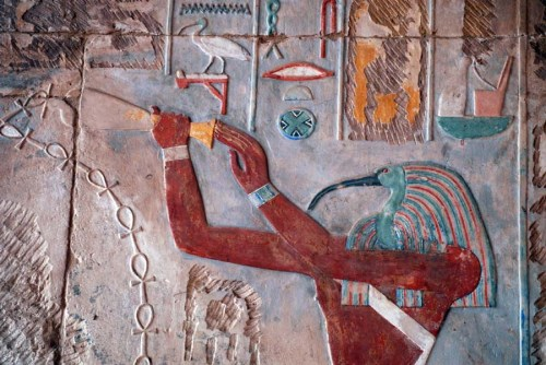 Thot image at Karnak Temple.