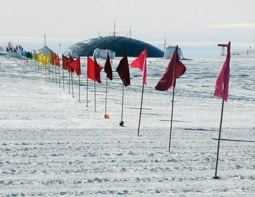 """Xavier Cortada, """"The Markers,"""" (South Pole), 2007 -- see http://cortada.com/2007/TheMarkers"""