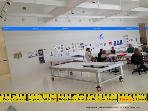 "Xavier Cortada. ""Rauschenberg Studio's WAIST Line (Captiva, Florida)"" 2015."