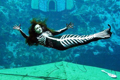 Weeki Wachee Springs State Park mermaid show at Halloween